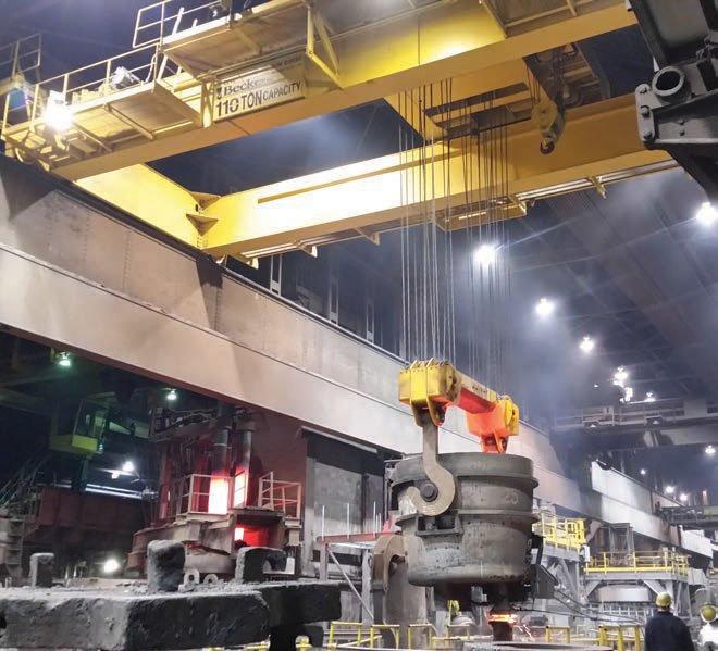 Steel Work Ladle Crane